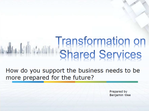 How do you support the business needs to be more prepared for the future?