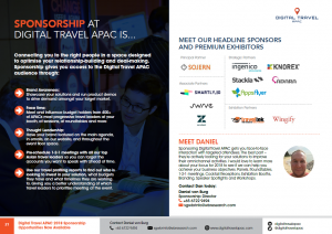 Digital Travel Summit APAC 2018 Agenda - Sponsorship