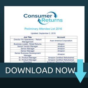 Consumer Returns Attendee List 2016