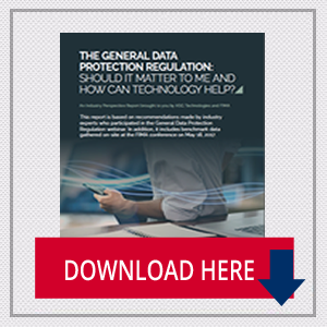 The General Data Protection Regulation: Should it matter to me and how can technology help?