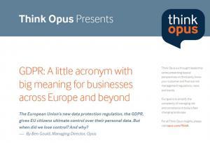 Think Opus GDPR Whitepaper