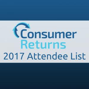 Consumer Returns 2017 Attendee List