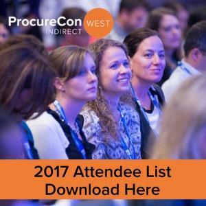 ProcureCon Indirect West 2017 Attendee List