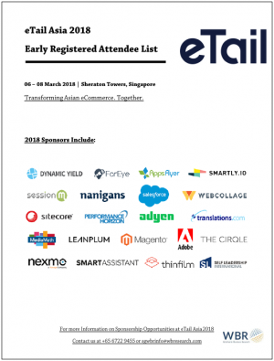 2018 eTail Asia Attendee List