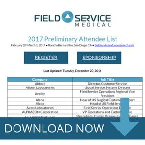 Field Service Medical 2017 Attendee List