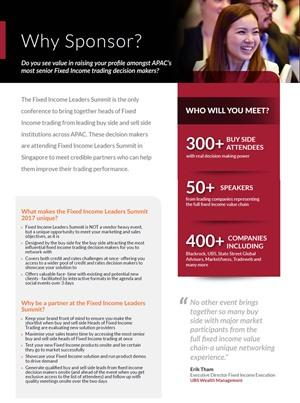 Fixed Income Leaders Summit APAC 2017 Sponsorship Brochure