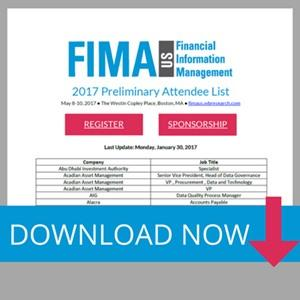 FIMA US 2017 Attendee List