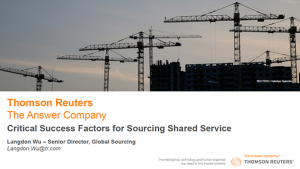 Critical factors for establishing & optimising a cohesive & aligned shared services strategy