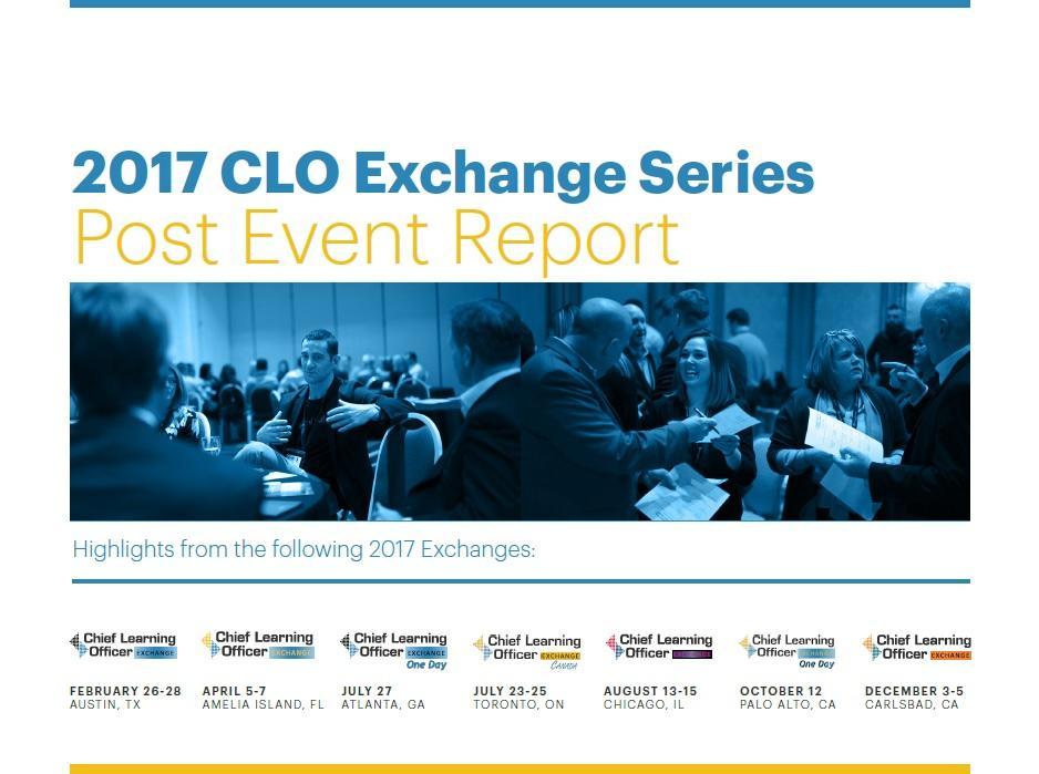 CLO Exchange Report 2017