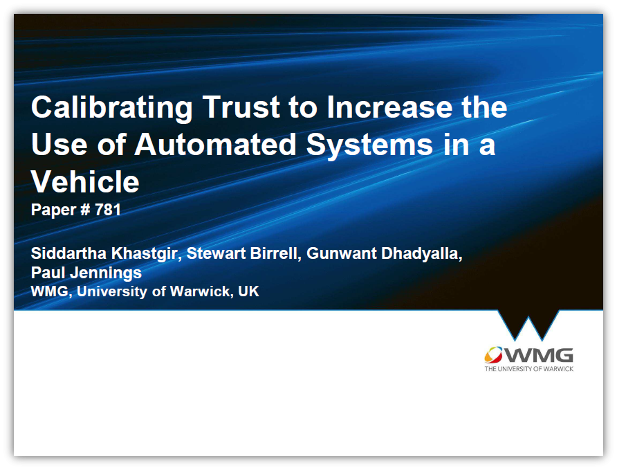 Calibrating Trust in Automated Systems