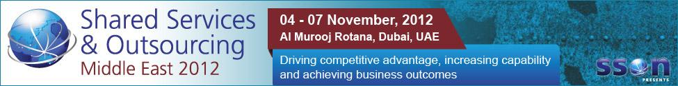 Shared Services & Outsourcing Middle East 2012