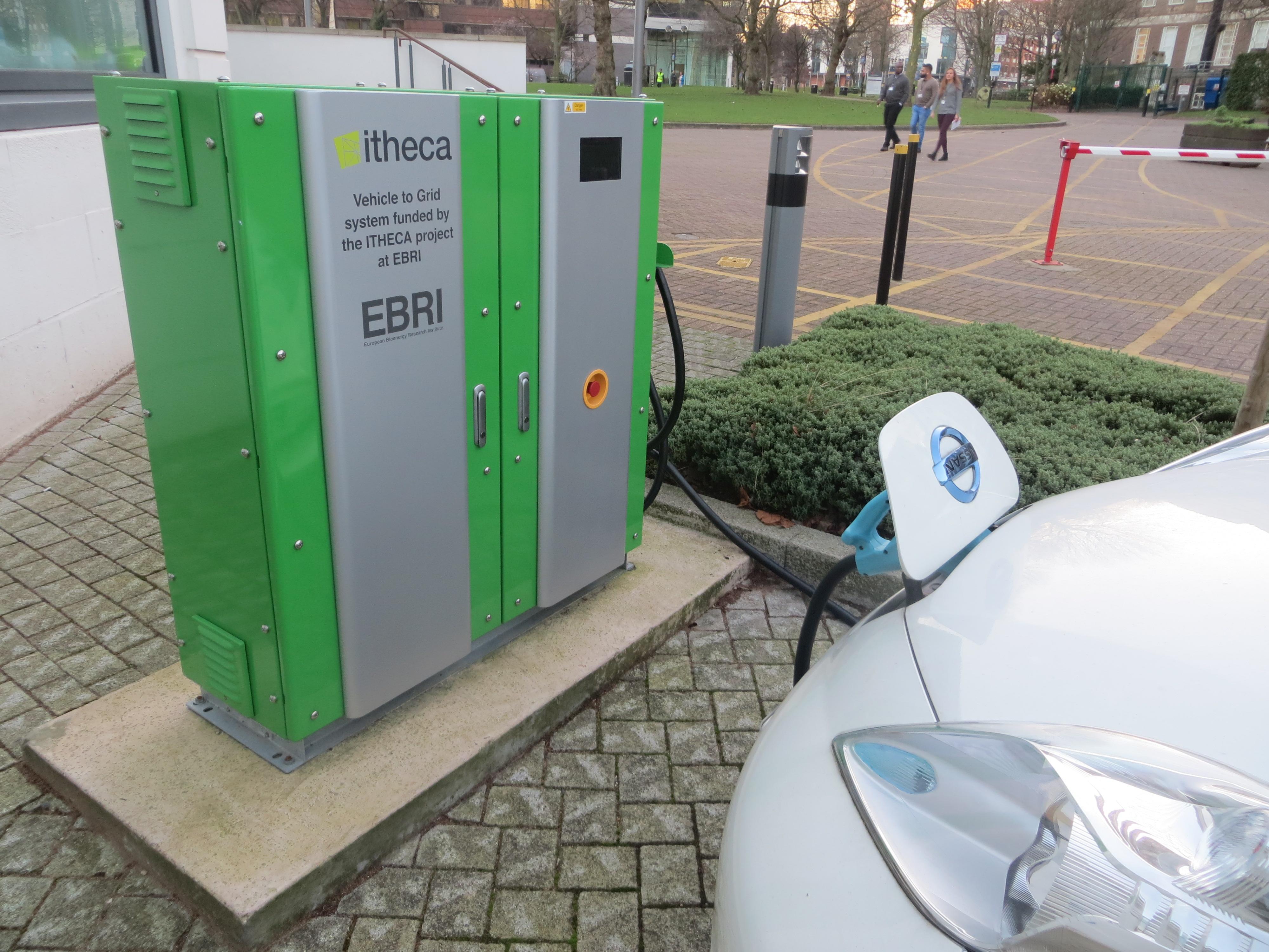 v2 grid charging unit