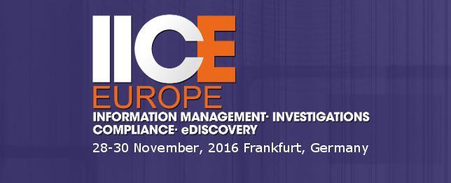 IICE Europe - Nov 2016