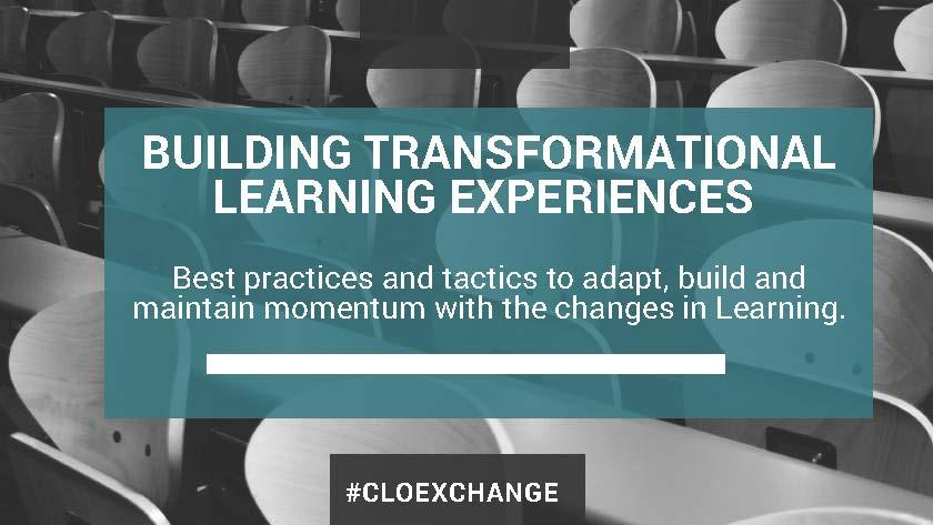 CLO Slideshare - Building transformational learning experiences thumbnail