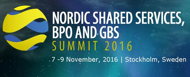 Nordic Shared Services & Outsourcing Forum - Nov 2016