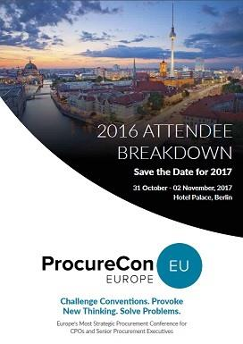 ProcureCon EU 2016 - Attendee Breakdown