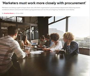 Marketers must work more closely with procurement