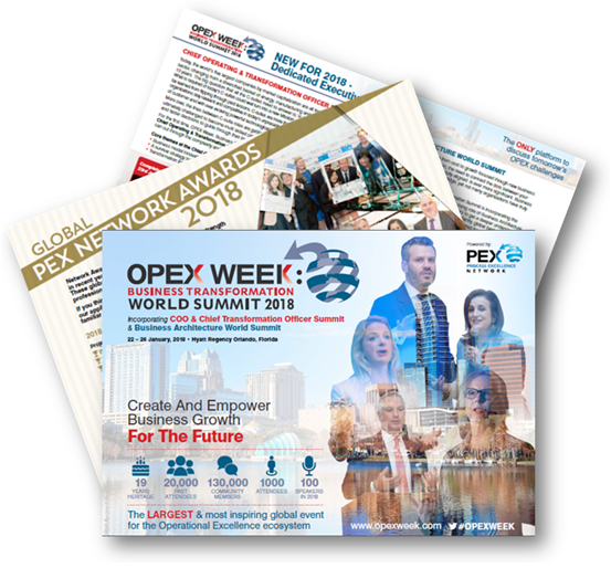 19th Annual OPEX Week: Business Transformation World Summit 2018 - Event Guide