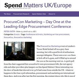 Day 1 at ProcureCon Marketing