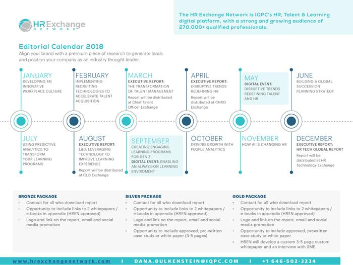 HR Exchange Network Editorial Calendar 2018