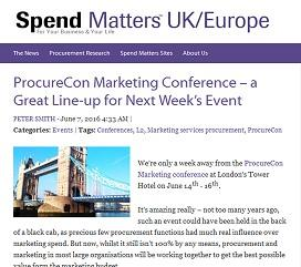 We're only a week away from ProcureCon Marketing