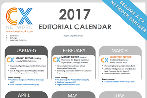 2017 CX Network Editorial Calendar