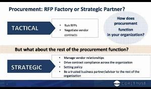 Procurement, RFP factory or strategic partner?