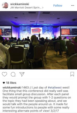 etail west 2017 insta