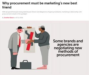 Why procurement must be marketing's new best friend