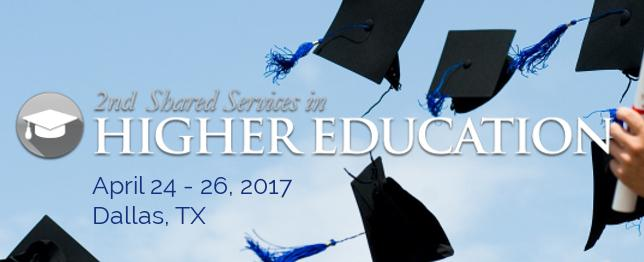 Shared Services for Higher Education 2017