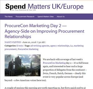 The use of agency-side in order to improve procurement relationships