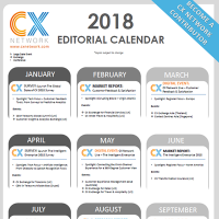CX Network editorial Calendar 2018