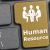 HR button on a computer keyboard