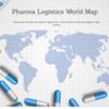 Pharma logistics world map
