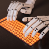robot typing thumb