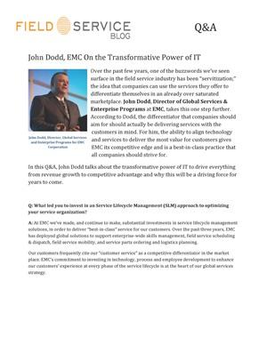 John Dodd, EMC On The Transformative Power Of IT