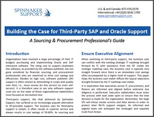 Building the Case for Third-Party SAP and Oracle Support