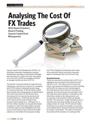 Analysing the Cost of FX Trades