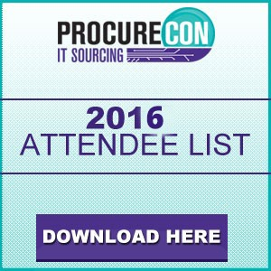 ProcureCon for IT Sourcing 2016 Attendee List