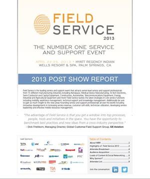 Field Service USA 2013 Post Show Report