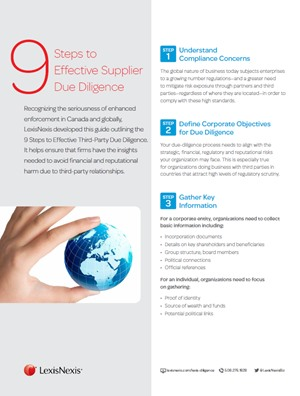 9 Steps to Effective Supplier Due Diligence