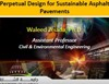 Perpetual Design for Sustainable Asphalt Pavements - By Waleed Zeiada from the University of Sharjah