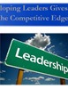 Developing Leaders Gives You the Competitive Edge