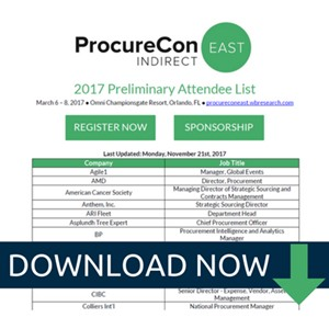 ProcureCon Indirect East 2017 Attendee List