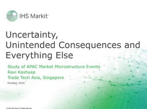 Study of APAC Market Microstructure Events