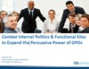 Combat Internal Politics & Functional Silos to Expand the Persuasive Power of GPOs