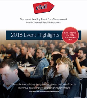 eTail Germany 2016 - Why Sponsor in 2017?