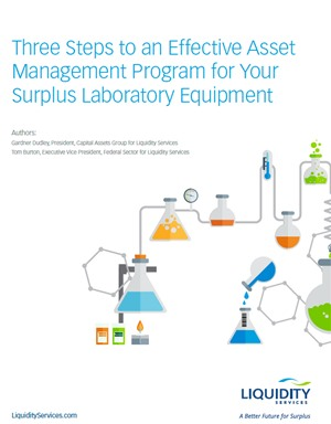 Three Steps to an Effective Asset Management Program for Your Surplus Laboratory Equipment