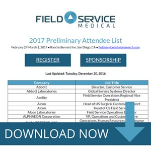 Field Service Medical 2017 Attendee List