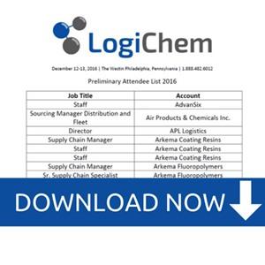 LogiChem US 2016 Attendee List